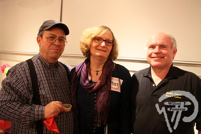 Author in Joe Accrocco, poet Carole Stasiowski and sound engineer Robbie Jarvis.