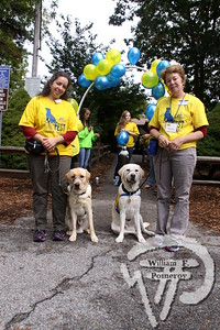 """Jason and Vinny, yellow labs,  along with their respective owners Leslie Zelamski and Betsy Spear.  SEEN ON SCENE:  DogFest in Dennis  Canine Companions for Independence inaugural DogFest attracted paws full of four-legged friends  and their masters to Johnny Kelley Park in South Dennis this past Saturday afternoon. To learn more about  the organization """"capable of transforming the lives of people with disabilities"""", please visit them on-line  at cci.org   3 of 18   WickedLocal.com/CapeCod October 7, 2013 COMMUNITY NEWSPAPER COMPANY"""
