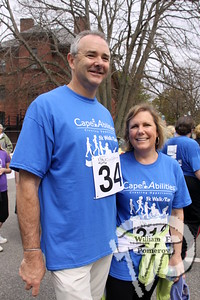 Jim and Leslie Botsford  of Orleans. SEEN ON SCENE:  Cape Abilities 5K  Despite an early slight rain, more than 500 runners and walkers  came out Saturday morning to take part in a 5K Walk/Run in downtown  Hyannis. Exceeding their goal in raising over $50,000 for Cape Abilities,  a program which has been supporting people with disabilities across  Cape Cod for over the past 40 years.  10 / 17   WickedLocal.com/CapeCod May 13, 2013 COMMUNITY NEWSPAPER COMPANY