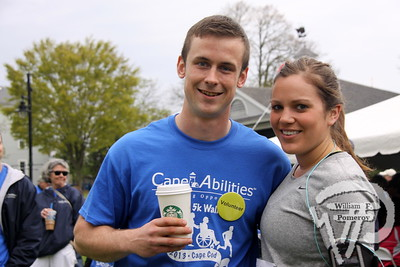 Two-of-500 plus participants  in Cape Abilities 5K Walk/Run. SEEN ON SCENE:  Cape Abilities 5K  Despite an early slight rain, more than 500 runners and walkers  came out Saturday morning to take part in a 5K Walk/Run in downtown  Hyannis. Exceeding their goal in raising over $50,000 for Cape Abilities,  a program which has been supporting people with disabilities across  Cape Cod for over the past 40 years.  6 / 17   WickedLocal.com/CapeCod May 13, 2013 COMMUNITY NEWSPAPER COMPANY