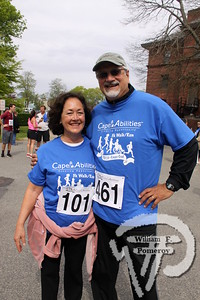 Team Gustare  from Chatham. SEEN ON SCENE:  Cape Abilities 5K  Despite an early slight rain, more than 500 runners and walkers  came out Saturday morning to take part in a 5K Walk/Run in downtown  Hyannis. Exceeding their goal in raising over $50,000 for Cape Abilities,  a program which has been supporting people with disabilities across  Cape Cod for over the past 40 years.  4 / 17   WickedLocal.com/CapeCod May 13, 2013 COMMUNITY NEWSPAPER COMPANY