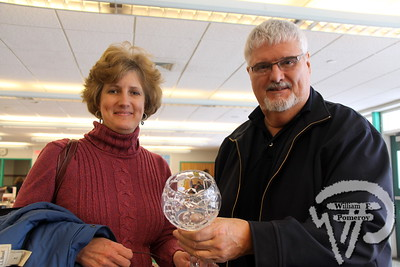 Marcie Fuller of Harwich  and Larry Hall from Maine. SEEN ON SCENE:  Nauset Greenhouse Project  The Nauset community was on hand for a community yard sale  to benefit the Greenhouse Project.  1 of 9   WickedLocal.com/CapeCod January 29, 2013 COMMUNITY NEWSPAPER COMPANY