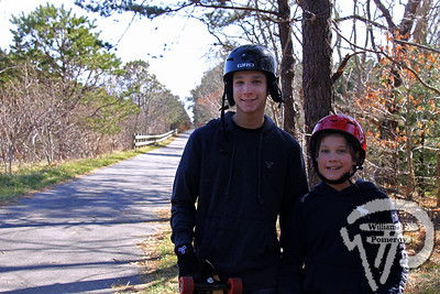 Orleans brothers  Ethan and Trevor Smith. SEEN ON SCENE:  Along the  Cape Cod Rail Trail Along the Cape Cod Rail Trail mixed with warmer weather  this past Saturday heightened curiosity for some to explore  from Brewster to Wellfleet's town line.   1 — 12  WickedLocal.com/CapeCod April 1, 2013 COMMUNITY NEWSPAPER COMPANY