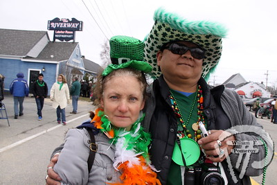 Kimberlie Burns from Hyannis  and Dee Alcott of Dennisport. SEEN ON SCENE:  Cape Cod St. Patrick's Day Parade  Large crowds were drawn along both sides of Route 28 this past Saturday  in West Dennis spilling into South Yarmouth, all to help celebrate  the 8th annual Cape Cod St. Patrick's Day Parade.   5 of 21  WickedLocal.com/CapeCod March 11, 2013 COMMUNITY NEWSPAPER COMPANY