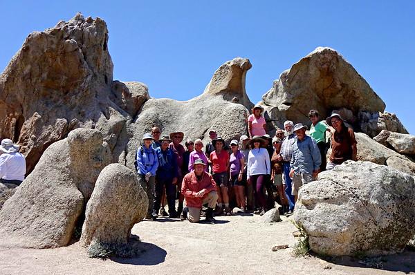 MultiGroup Hike to Eagle Rock, Warner Springs CA April 25, 2018