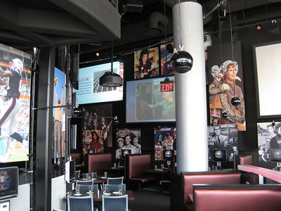 Each table has an interactive television