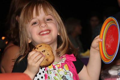 Jordan eating Chocolate Chip Cookies
