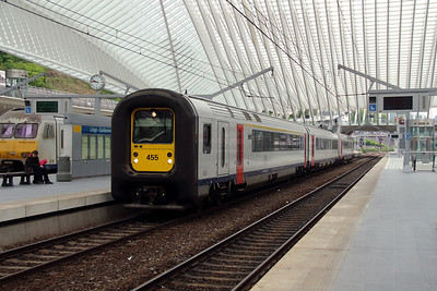 455 at Liege Guillemins on 10th June 2013