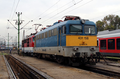 431 158 at Budapest Keleti Depot on 7th October 2013