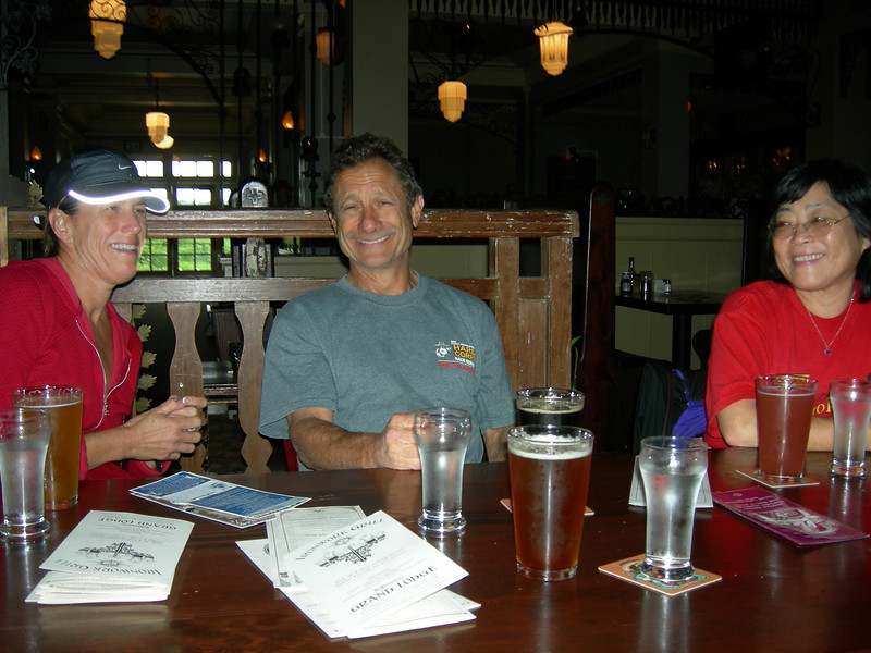 "Kerry, Mark & Cindy. ""The beer here is great!"""