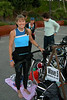 "Jeri is excited with her transition set-up after Coach Mike dialed her in and ""de-Geeked"" her helmet straps."