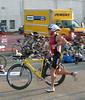 Scott Spence tries to run Pose in bike shoes & an aero helmet.