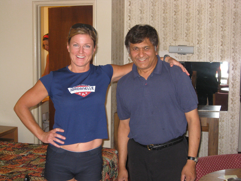Julia tells our hotel manager Raj how to get six-pack abs.
