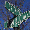 bway greenfield street sign
