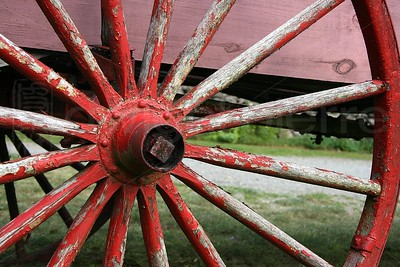Red Carriage Wheel / The Adirondacks Collection / 2008 Summer