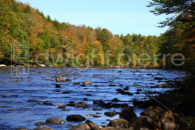 Creek along the Road / Route 30 / The Adirondacks Collection / 2009 Autumn