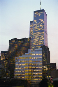sunset on the trades world trade center / nyc