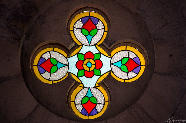 Entrance stained glass
