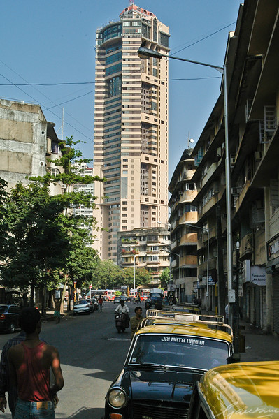 Construction and development at Nana Chowk, Mumbai 2004