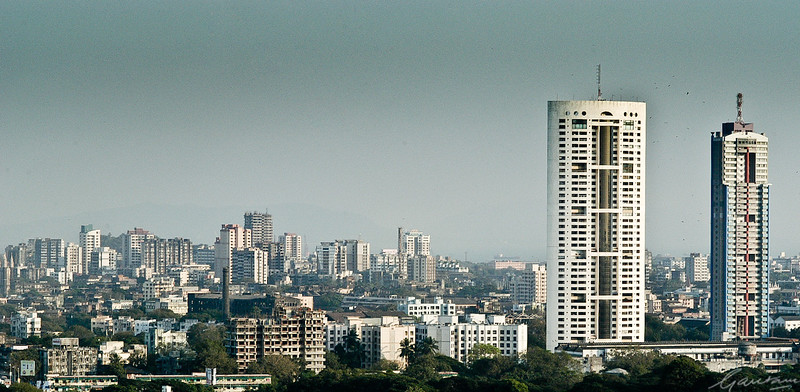 Skyline and views from the Nehur Centre, Worli, Mumbai, 2003-2004