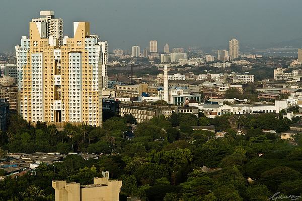 Skyline and views from the Nehur Centre, Worli, Mumbai, 2003-2004