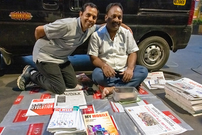 Who's the boss? Newspaper distribution location. Priyan knows so many people!