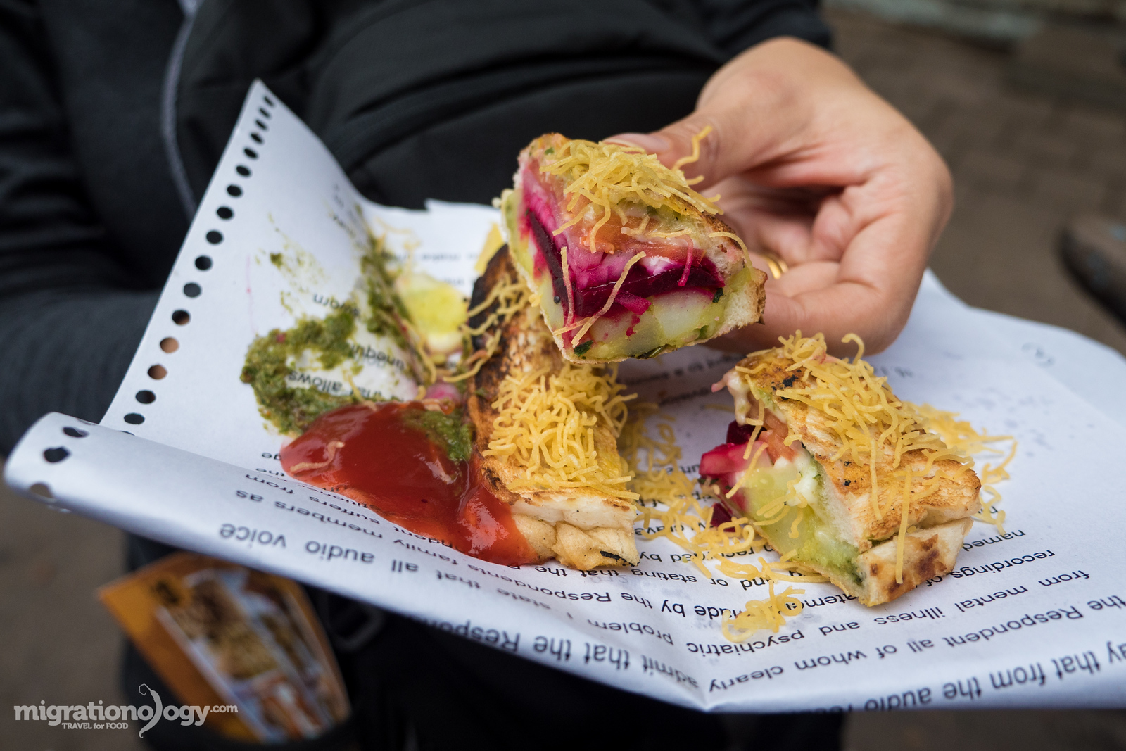 Mumbai street food sandwich
