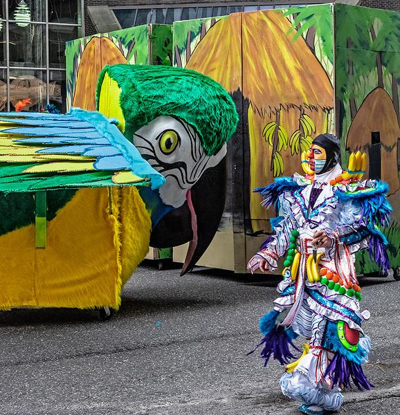 Mummer Passing Parade Float