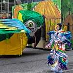 Mummer Passing Parade Float