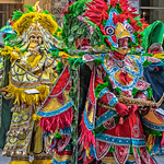 Two Mummers, Yellow & Red