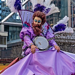 Purple String Band Banjo Player