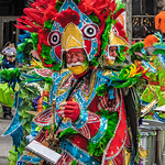 Red Gloved Mummer Portrait
