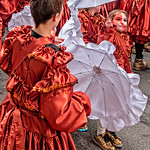 White Mummer Umbrellas