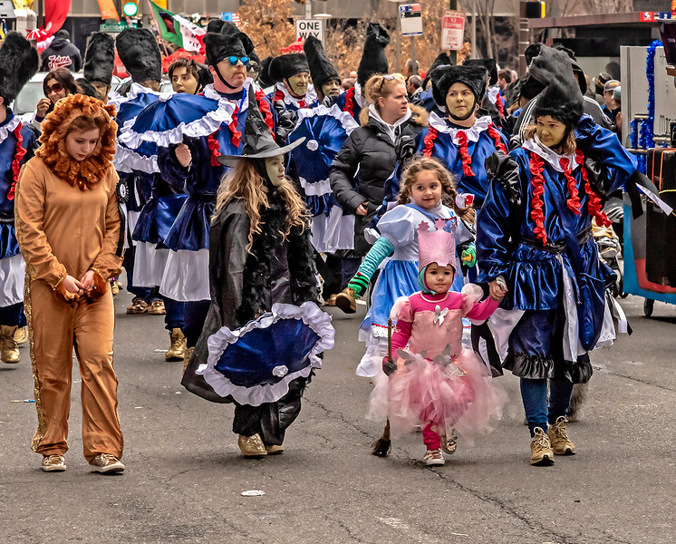 Children Lead Mummers Brigade