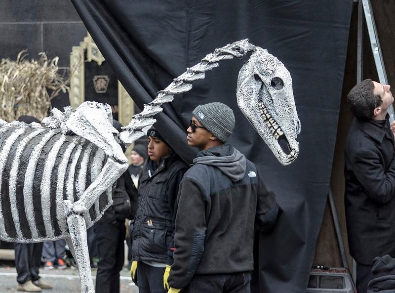 Mummer Parade Float Skeleton