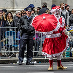 Red Costumed Mummer & Policeman