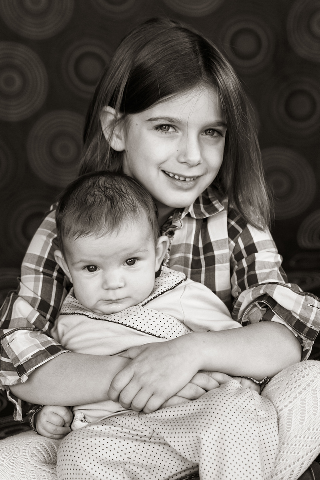Mary and Amelia 12-2010-3b&w