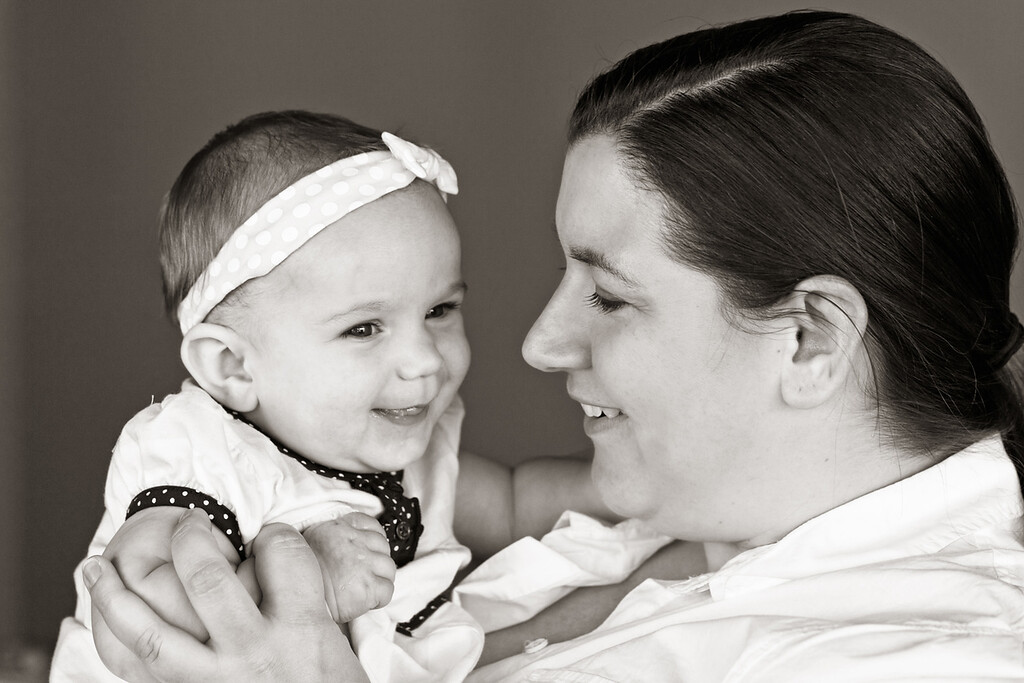 Amelia 6 Months-25b&w