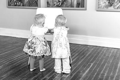Elsie & Abby-37b&w