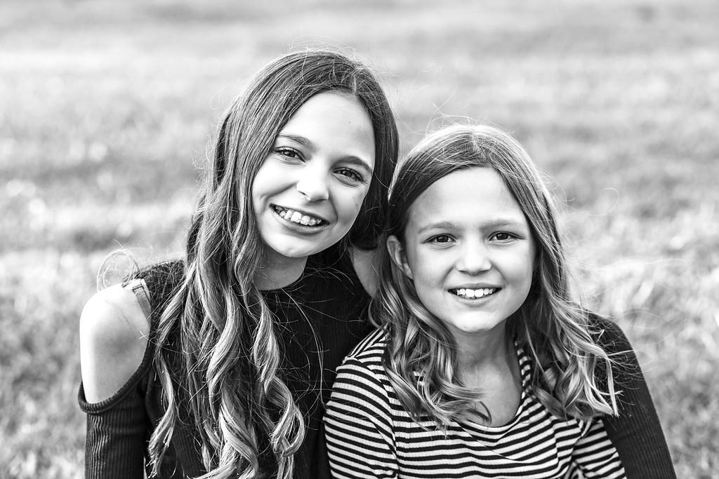 Emma & Addy 2016-1b&w