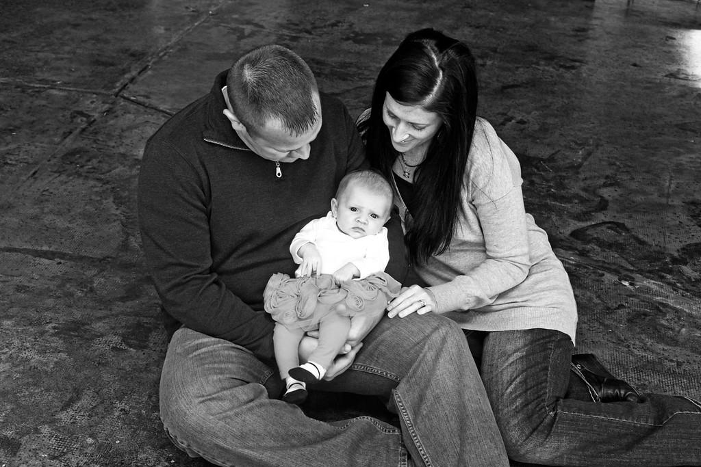 Katelyn 3 Months-5b&w