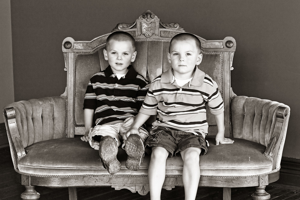 Patrick and Connor 6-25-11-31b&w