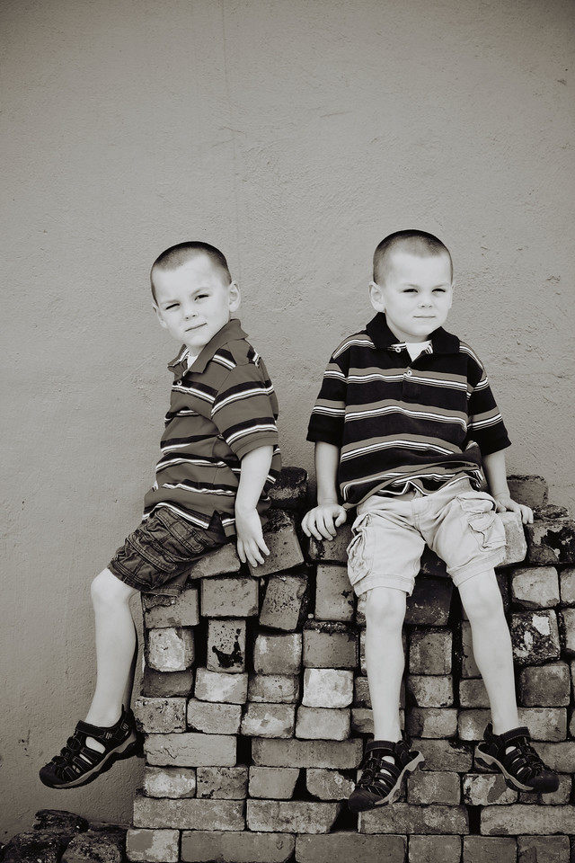 Patrick and Connor 6-25-11-11b&w