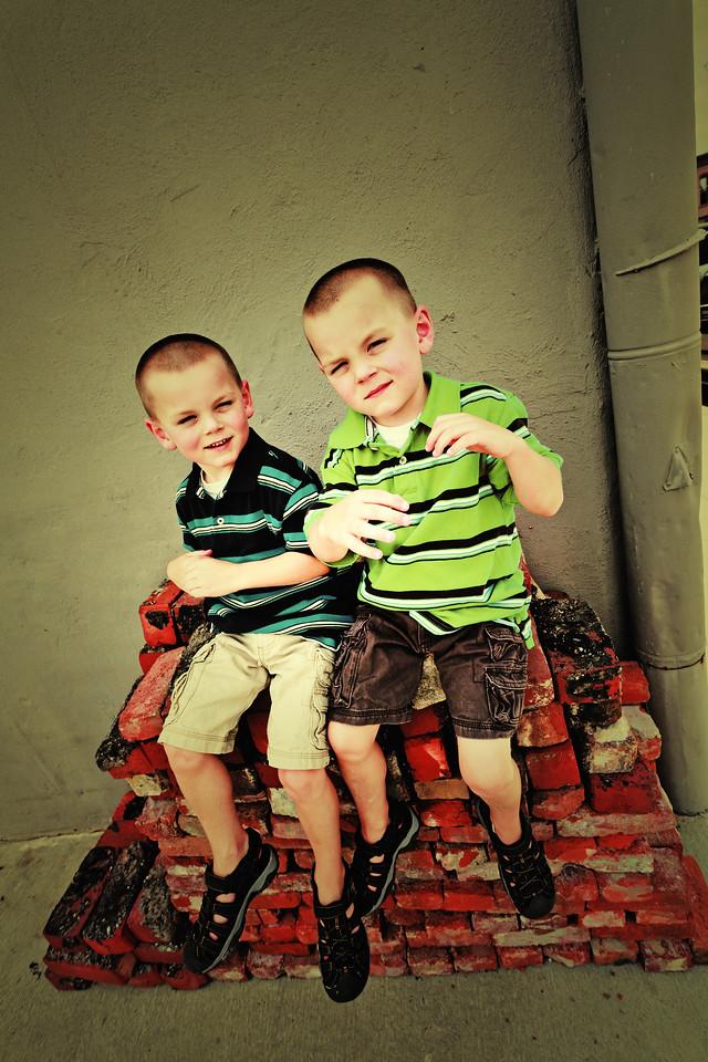 Patrick and Connor 6-25-11-16retro