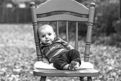 Elliot, 4 months-42b&w