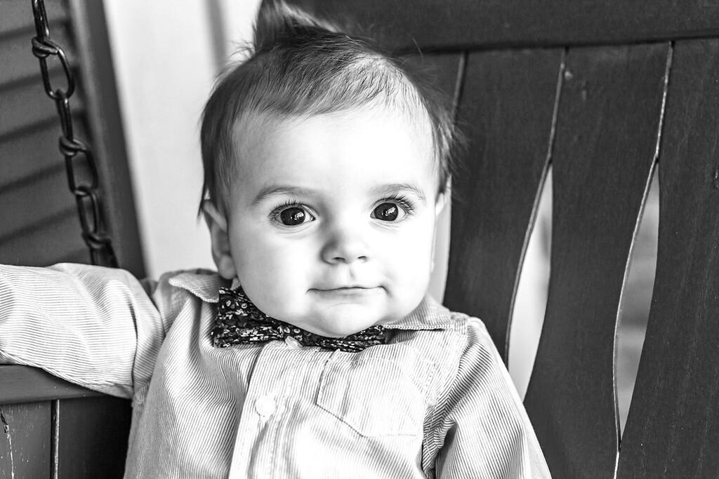 Elliot 7 months-12b&w