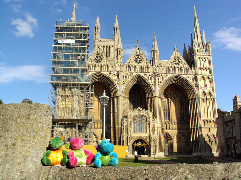 The 3 Dragons about to check out Peterborough Cathedral