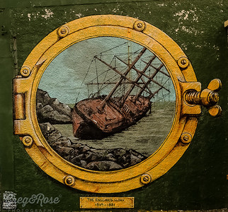 Mural of England Glory's Ship Wreck