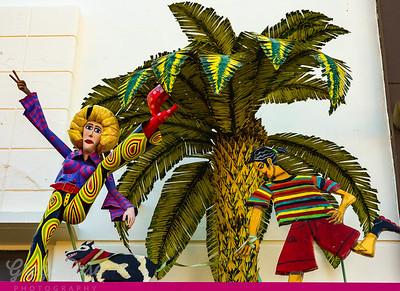 Fun art on Shop Verandah St Kilda, dance moves