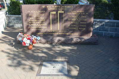 Memorial outside FDNY Engine 72 and Satellite 2